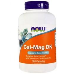NOW FOODS Cal-Mag Kompleks D3 K2, Wapń Magnez x180