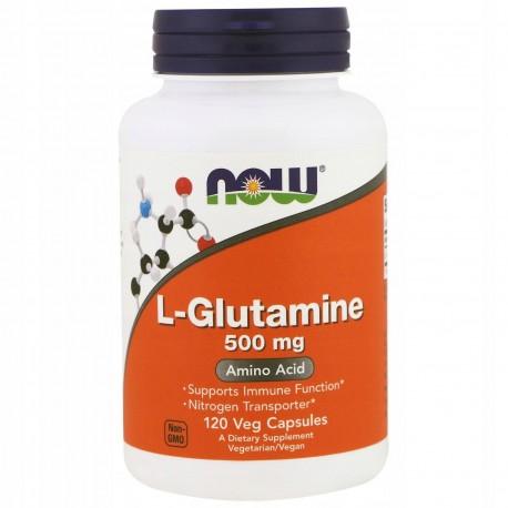 NOW FOODS L-Glutamine, 500 mg, 120 tab GLUTAMINA