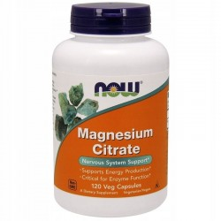 NOW FOODS Cytrynian Magnezu, 120 kapsułek VEGGIE