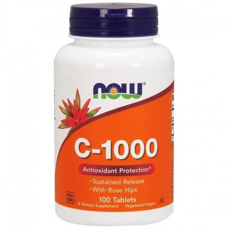 NOW FOODS Witamina C z różą, 1000 mg, 100 tabletek
