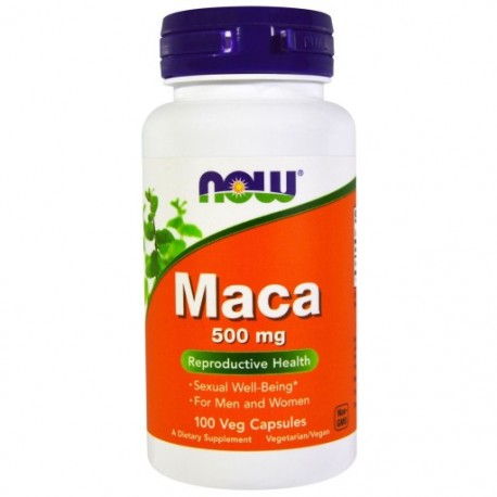 NOW FOODS MACA 500mg , 100 kapsułek
