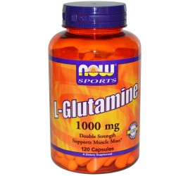 NOW FOODS L-Glutamine, 1000 mg, 120 tab GLUTAMINA