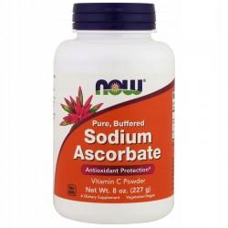 NOW FOODS Askorbinian sodu Sodium Ascorbate 227g