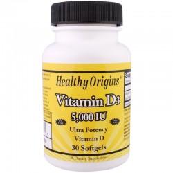 Healthy Origins Witamina D3 5000 IU 30 kapsułek