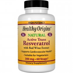 Healthy Origins Resveratrol 300mg, 60 kaps
