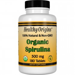 Healthy Origins Spirulina 500 mg, 180 Tabl.