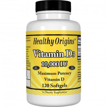 Healthy Origins Witamina D3 10000 IU 120 kapsułek