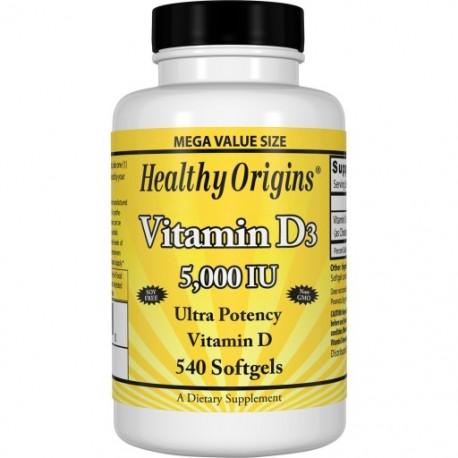 Healthy Origins Witamina D3 5000 IU 540 kapsułek