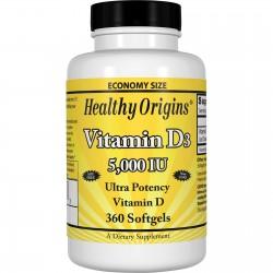 Healthy Origins Witamina D3 5000 IU 360 kapsułek