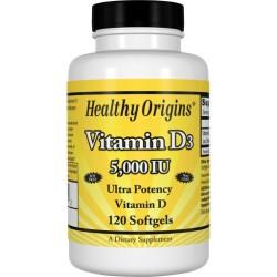 Healthy Origins Witamina D3 5000 IU 120 kapsułek