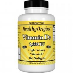 Healthy Origins Witamina D3 2000 IU 360 kapsułek