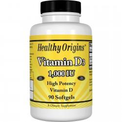 Healthy Origins Witamina D3 1000 IU 90 kapsułek