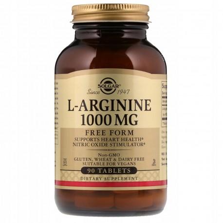 SOLGAR, L-arginina, 1000 mg, 90 tabletek