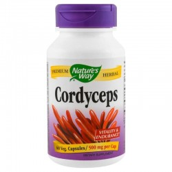 Nature's Way Cordyceps Maczużnik bojowy 500mg x60