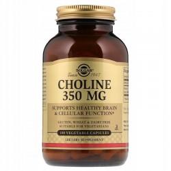 SOLGAR, Cholina, 350 mg, 100 kapsułek