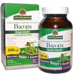 Nature's Answer Bacopa, 500 mg, 90 kaps