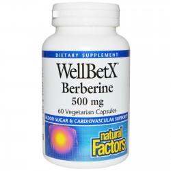 Natural Factors WellBetx,Berberyna ,500mg, 60 kapsułek