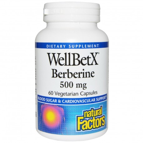 Natural Factors WellBetx,Berberyna ,500mg, 60 kapsułek