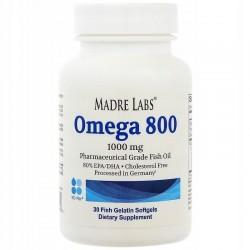 Madre Labs OMEGA 800 olej rybny 30 kapsułek