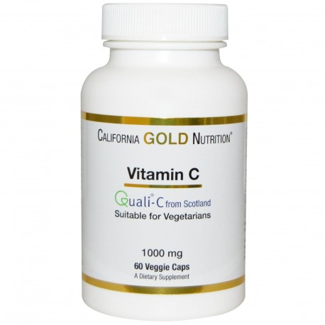 California Gold Nutrition Witamina C, 1000mg, 60 kapsułek