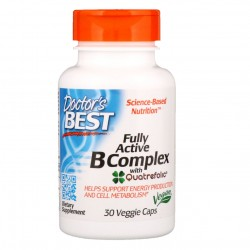 Doctor's BEST Fully Active B-Complex, 30 kaps