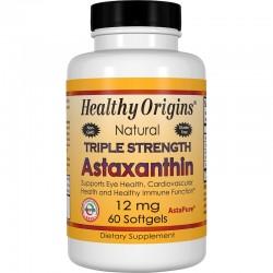 Healthy Origins Astaksantyna 12mg, 60kaps