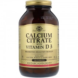 SOLGAR, Cytrynian wapnia z D3, 240 tabletek
