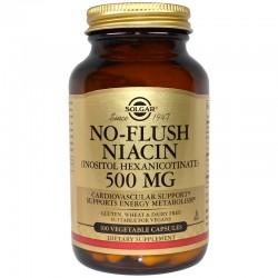 SOLGAR, Niacyna No flush 500 mg 100 kapsułek