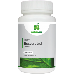 Nature.pro Trans-Resveratrol 100 mcg, 60 kapsułek
