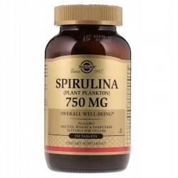 SOLGAR, Spirulina, 750 mg, 250 tabletek