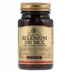 SOLGAR Selen, 100 mcg SELENOMETIONINA 100 tabletek