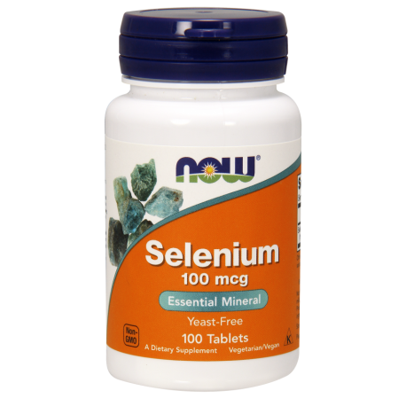 NOW FOODS Selen, 100 mcg 100 tabletek