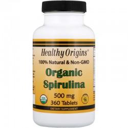 Healthy Origins Spirulina 500 mg, 180 Tabl.