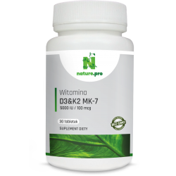 NaturePRO Witamina D3 125 mcg 5000IU 30 tabletek