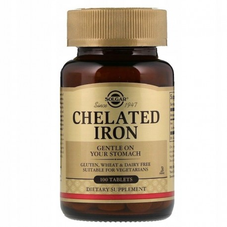 Solgar Chelat żelaza, 25 mg, 100 tabletek