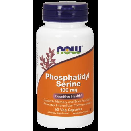 NOW FOODS Fosfatydyloseryna 100 mg 60 kapsułek