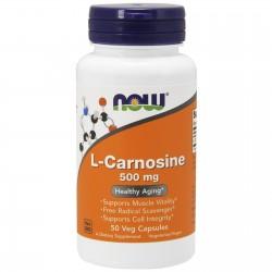 NOW FOODS L-karnozyna 500 mg 50 kapsułek