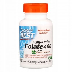 Doctor's Best, Folian Quatrefolic 400mg, 90 kaps
