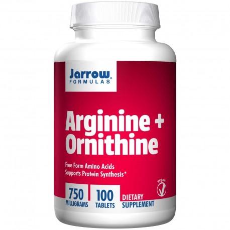 JARROW L-Arginina i L-ornityna 750mg x100