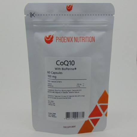 Phoenix Koenzym Q10 100mg z bioperyna 60 kaps