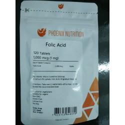 Phoenix Nutrition Kwas foliowy 1000 mcg 120 tab