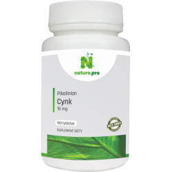 NaturePRO Cynk Pikolinian 15 mg 180 tabletek