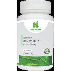 NaturePRO Witamina D3 4000IU K2 250mcg 60 tabletek