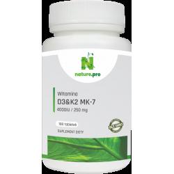 NaturePRO Witamina D3 4000IU K2 250mcg 180 tabletek