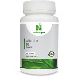 NaturePRO Witamina D3 125 mcg 10000IU 60 tabletek