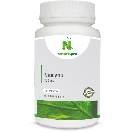 NaturePRO Niacyna 100 mg 180 tabletek