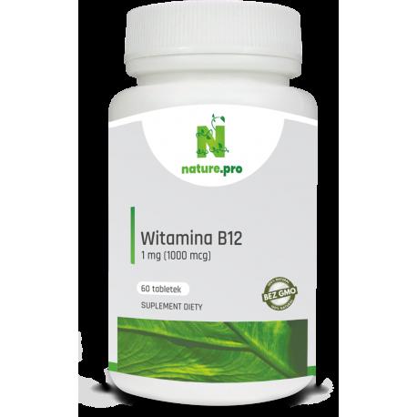 NaturePRO Witamina B12 Metyl. 1 mg 60 tabletek