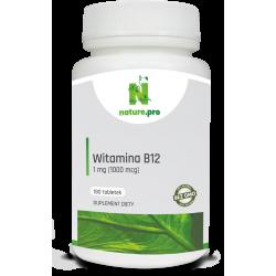 NaturePRO Witamina B12 Metyl. 1 mg 180 tabletek