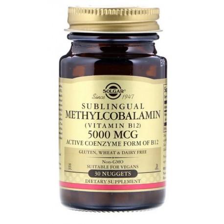 SOLGAR, Witamina B12 Metylokobalamina 5000 mcg x30