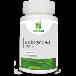 NaturePRO Berberyna Hcl 250 mg 100 kapsułek